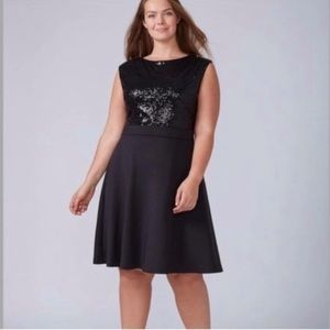 Lane Bryant sequin dress plus size 22/24 women